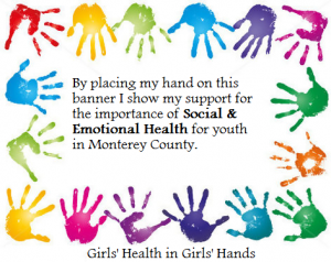 GHGH Programs from across the County will ask youth to support Social & Emotional Health. Everybody stamp your hand!