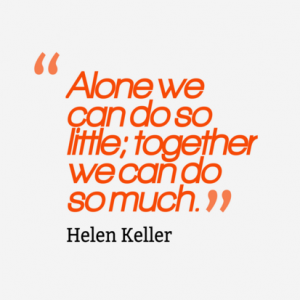 alone we can do so little together